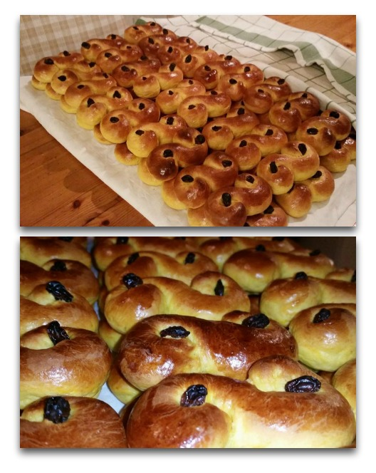 lussekatter collage